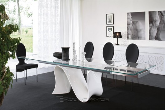 Wave Dining Table by Tonin Casa