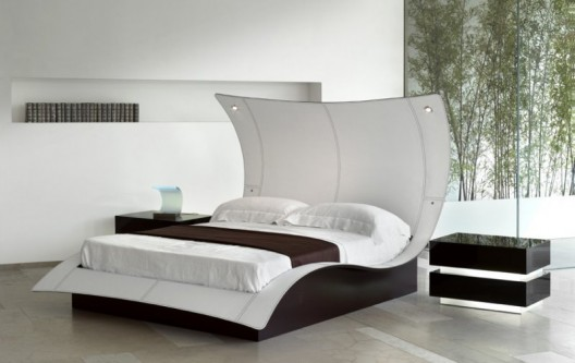 Mega Erfly Leather Platform Bed By Reflexangelo