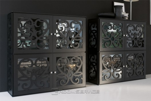 Paris Collection By Tonin Casa Includes Stand Alone, Cube Units, Buffets,  Curios