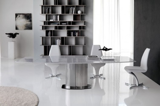 ocean drive white carrera marble extension dining table by cattelan italia - Granite Dining Table