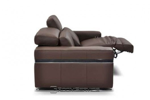 Bridge 641 Reclining Leather Sofa By Incanto
