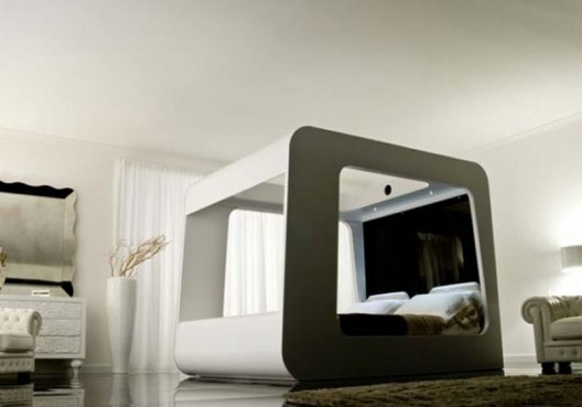 Modern Beds of the Future room service 360