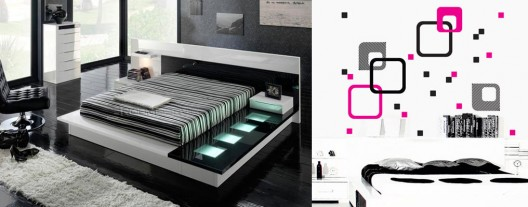 diy modern furniture. Sixties Optical Art Decal By MyVinilo And Tokyo 710 Walk-on Platform Bed Milmueble Diy Modern Furniture R