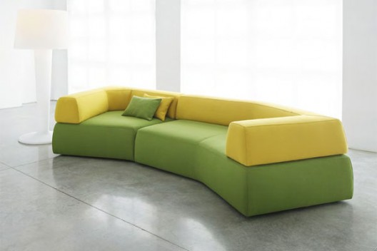 Nice Melt Designer Sofa By Mauro Lipparini For Bonaldo. Green Color ...