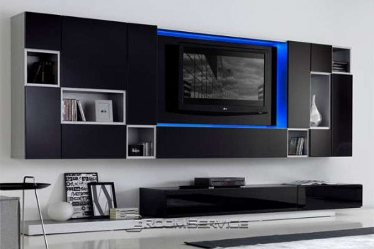 Led Tv Unit : Designer storage and shelving solutions often double as room dividers ...