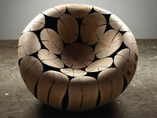 Pine Wood Armchair By Jae Hyo Lee