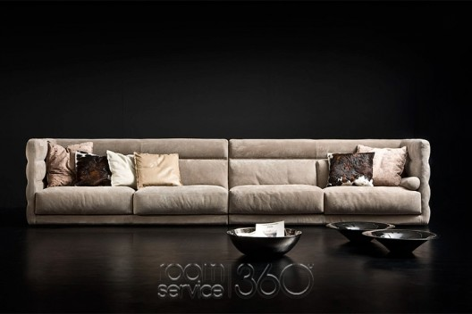 Wafer Leather Sofa By Gamma Arredamenti