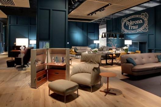 Poltrona frau showroom design at 2014 salone del mobile