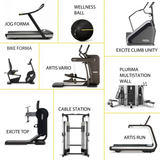 Unique and highly innovative gym equipment by Technogym