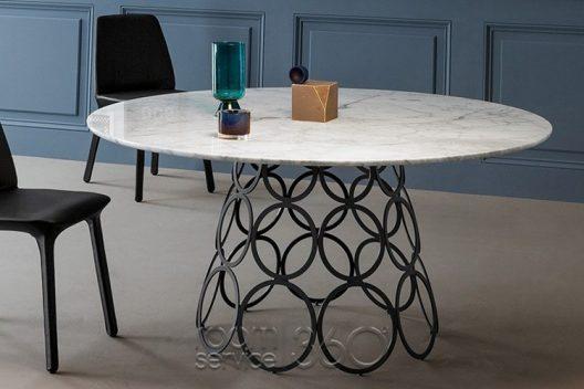 Hoola Hoop dining table by Bonaldo