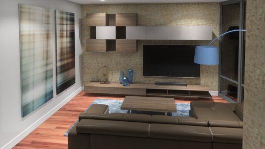 Custom interior design 3D rendering by room service 360°