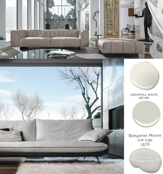 Cadillac and marlon sofas in winter white from the dandy collection by gamma arredamenti