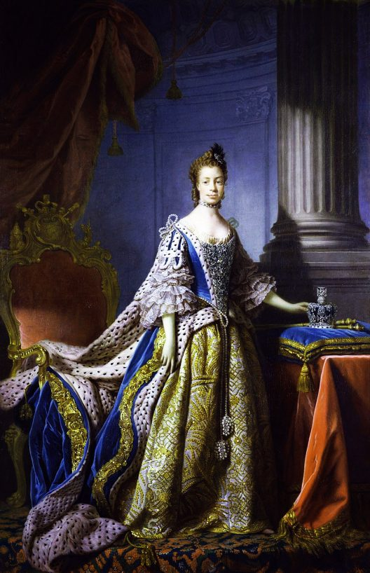 Queen Charlotte's blue dress