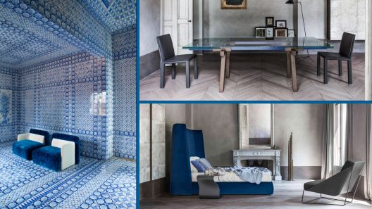 Royal blue modern interior design
