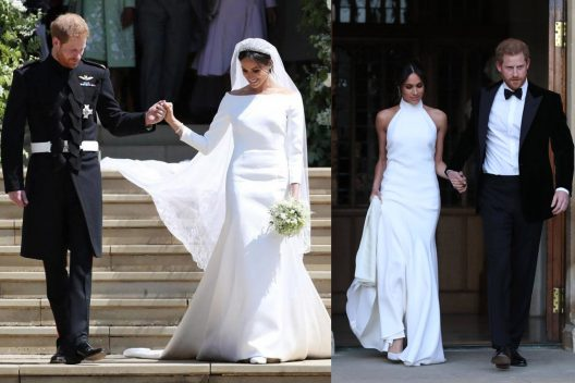 Meghan Markle's wedding gown by Givenchy and Stella McCartney