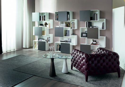 Piquant bookcase by Andrea Lucatello for Cattelan Italia