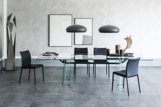 Klirr dining table by Emmanuele Zenere for Cattelan Italia