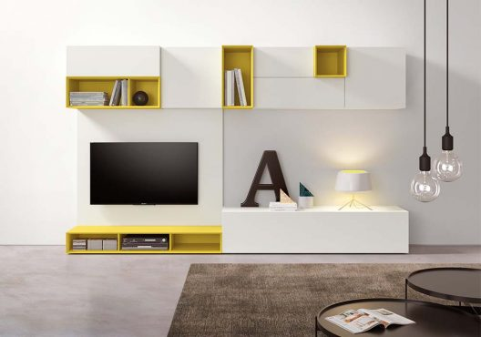 Spazio 05 wall unit by Pianca